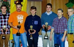 Die Automobil-Sportler des AMC Coburg (v. li.): Fabian Strunz, Andi Fleischmann, Christian Strunz, Dominik Dinkel, Andre Apel und Wolfgang Hübner