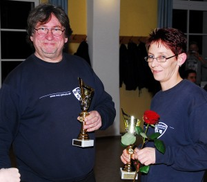 Stolze Gesamtsieger: Vater Stefan Blumreich und Tochter Nina Worbs