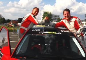 Riesenfreude herrschte bei den Gesamtsiegern Bernd Michel (re.) und Bernd Hartbauer