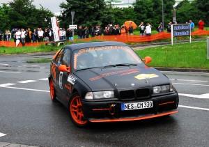 Ein Rallye-Spektakel der ganz besonderen Art: der Zuschauerrundkurs am Ortsrand von Neustadt b. Coburg