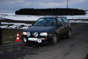 Fuhren im noch etwas winterlichen Steinwald auf Rang zwölf: Wittmann/Strunz vom AMC Coburg